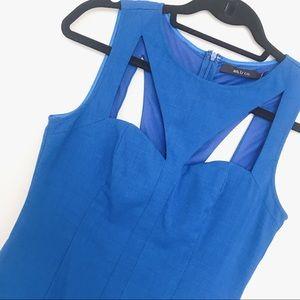 Size S blue cutout mini dress from ModCloth